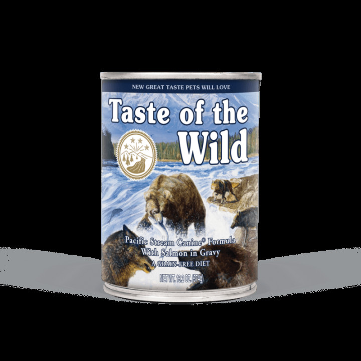 Taste of the Wild Dog Food Pacific Stream Formula With Salmon in gravy 390g