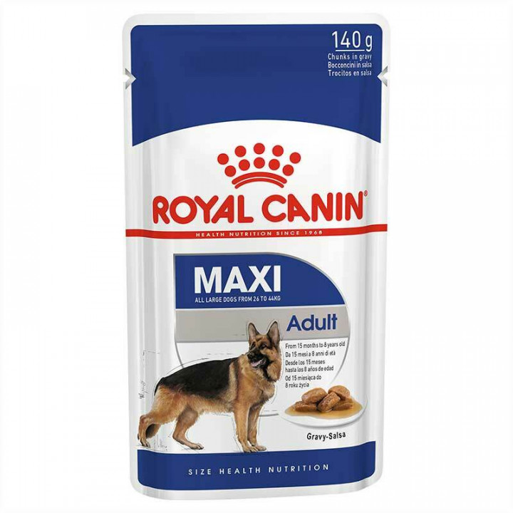 Royal Canin Dog maxi adult Pouch with gravy salsa 140g
