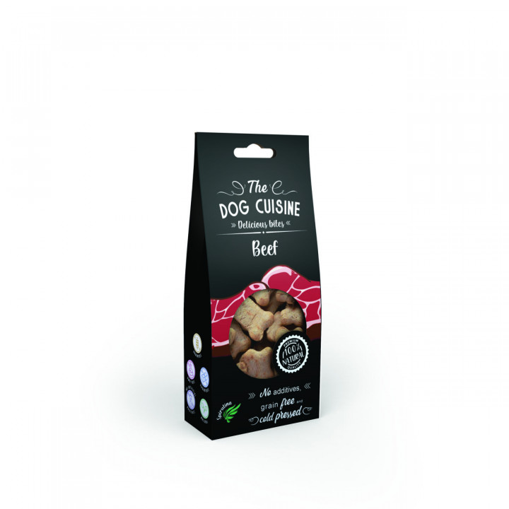 The Dog Cuisine Bites with Beef and Spirulina 100g
