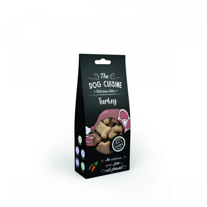 The Dog Cuisine Bites with Turkey and Carrots 100g