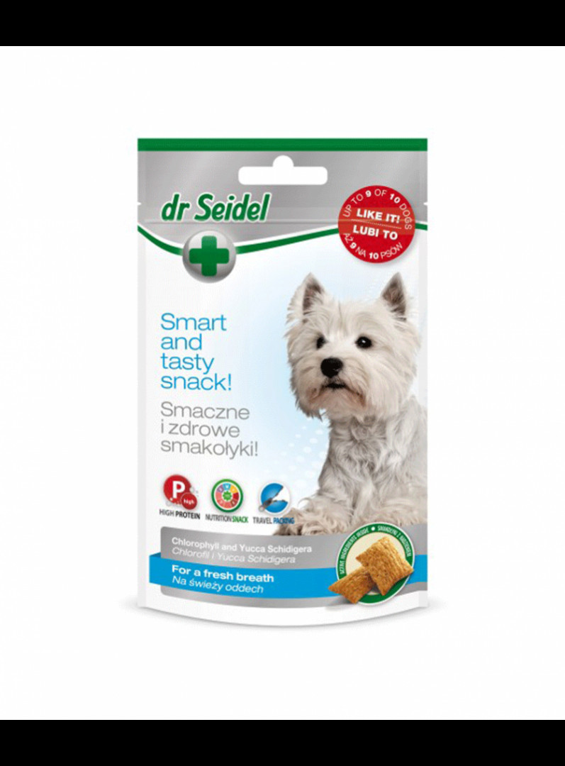 Dr. Seidel smart and tasty Dog snacks for fresh breath 90gr