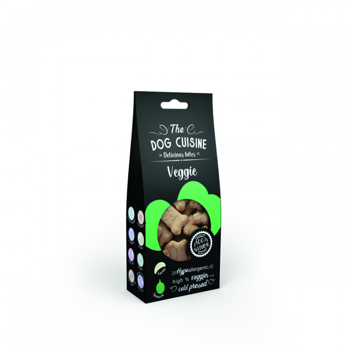 The Dog Cuisine Bites – Garlic & Spinach 100g
