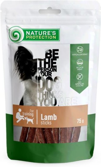 Nature's protection treats for dogs lamb sticks 75g