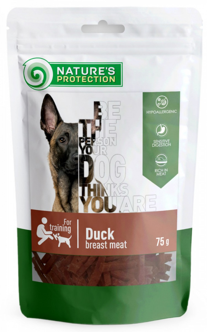 nature's protection dog treats with duck