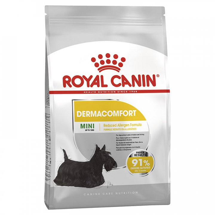 royal canine dermaconfort dry food for mini size dog 3kg