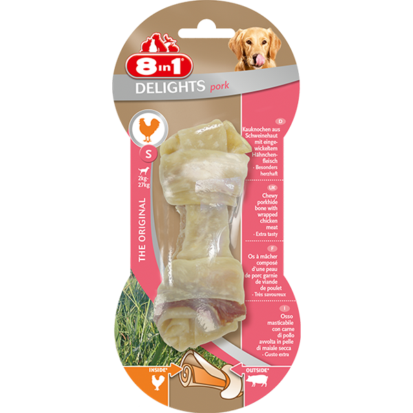 8 in1 Dog Bone Delights Pork - 40g