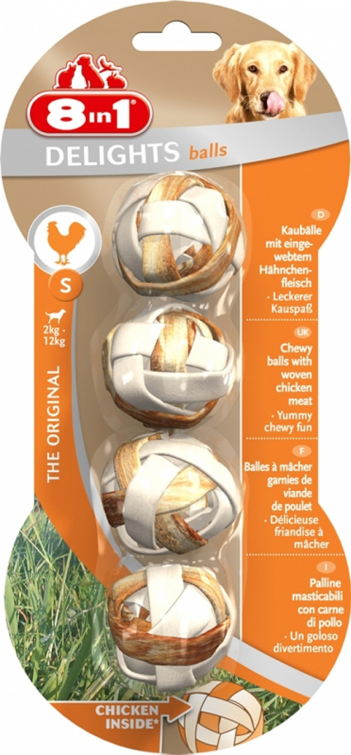 8 in 1 delights balls with chicken - small
