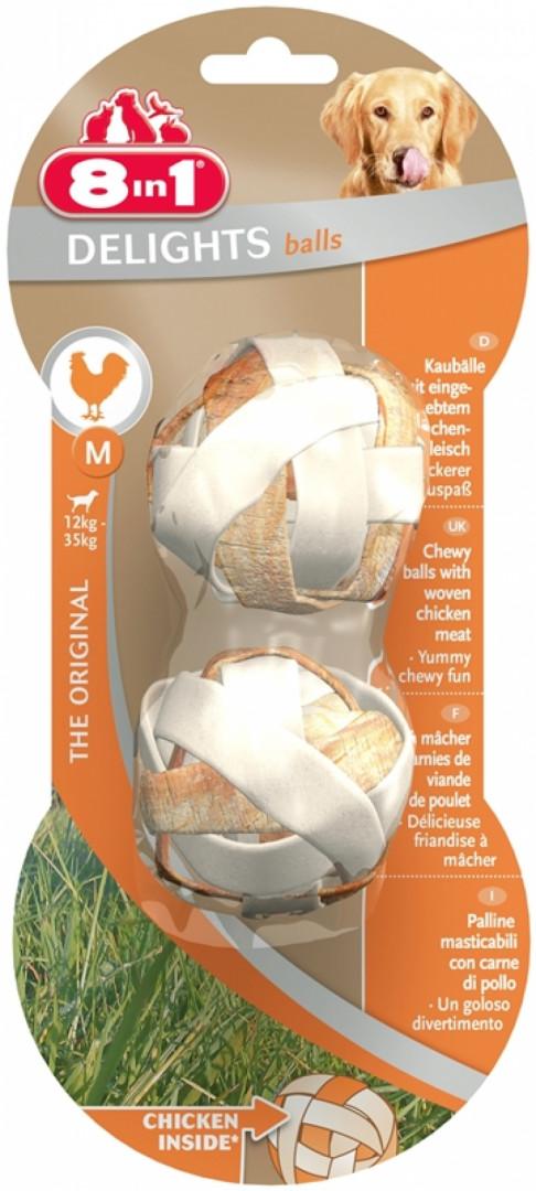 8 in1 Bones Delights Balls with Chicken - Medium (2 Pieces - 40g)