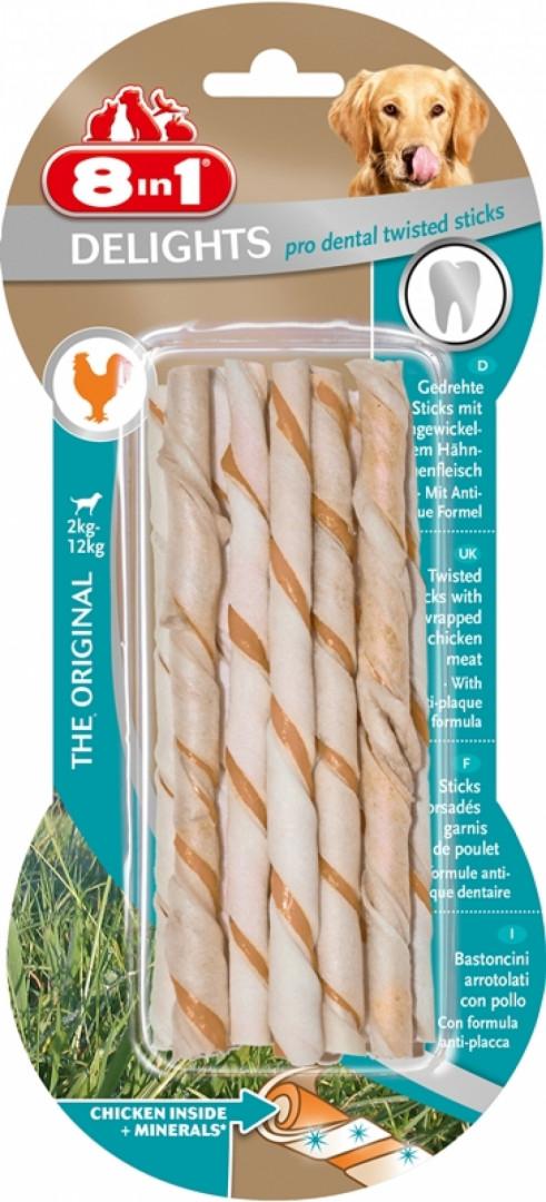 8 in 1 delights pro dental twisted sticks