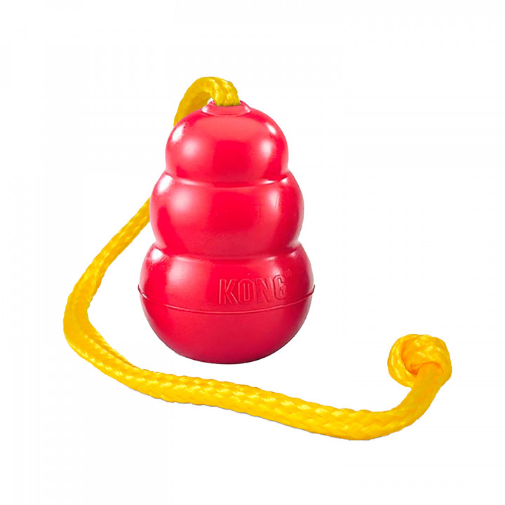 Kong classic With Rope Dog Toy