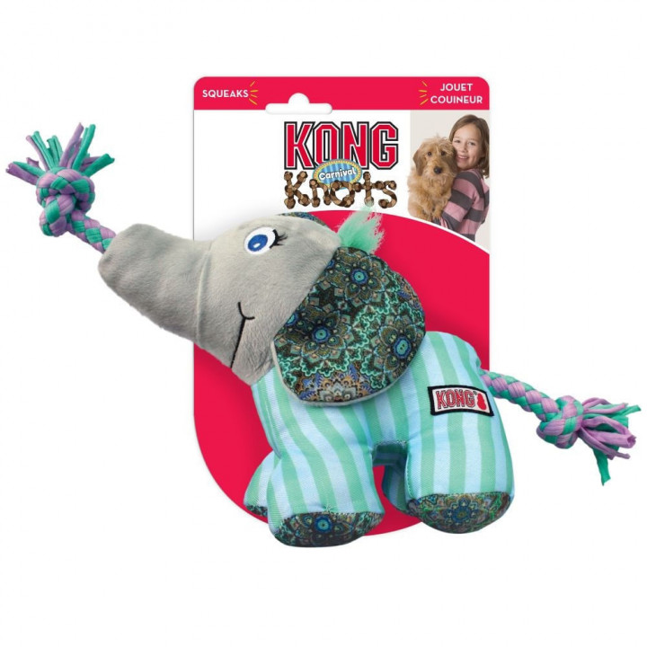 Knots Carnival Elephant Dog Toy - Small/Medium