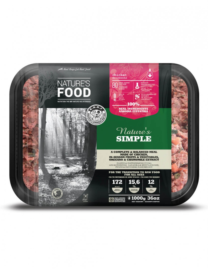 NATURE'S FOOD - CHICKEN MEAT BULK (RAW) 1000g