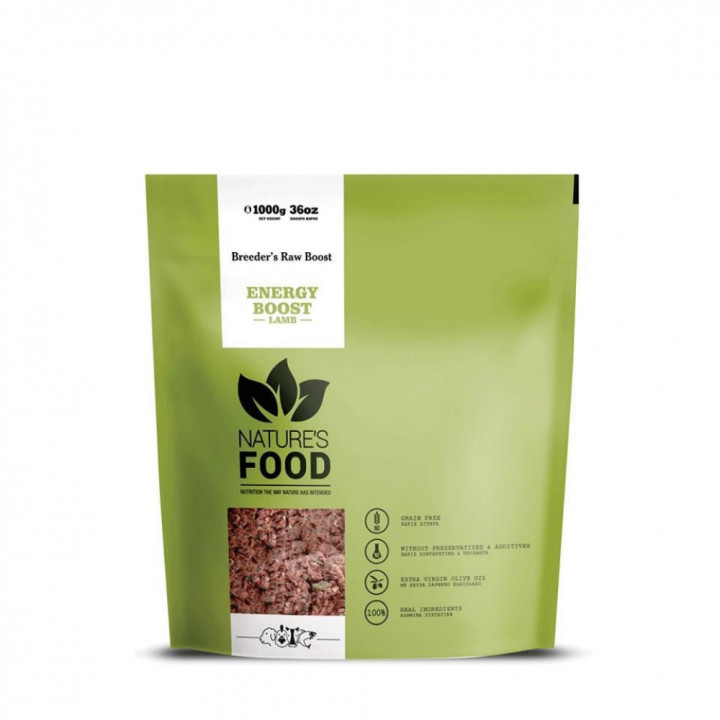 NATURE'S FOOD LAMB DINNER ENERGY BOOST (RAW) 1000g