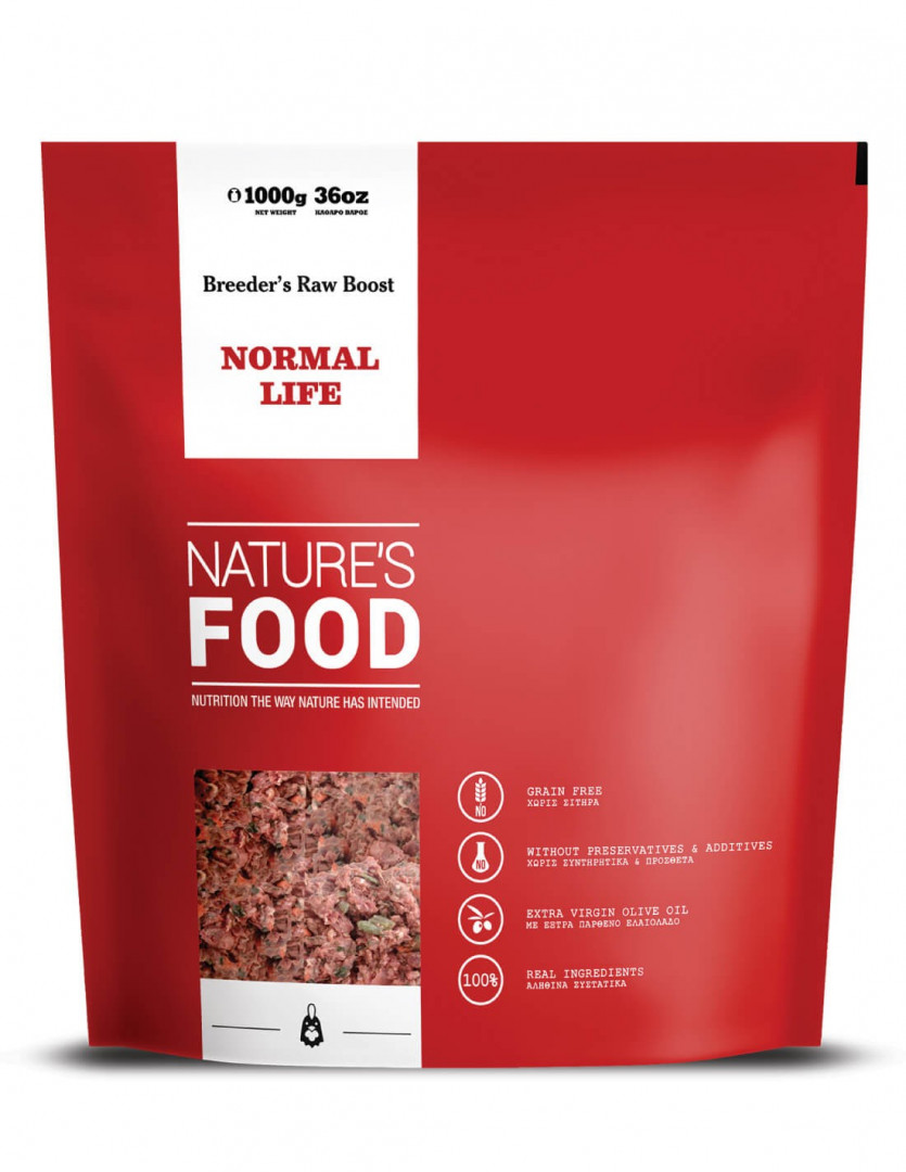NATURE'S FOOD BREEDER BOOST NORMAL LIFE (RAW) 1000g