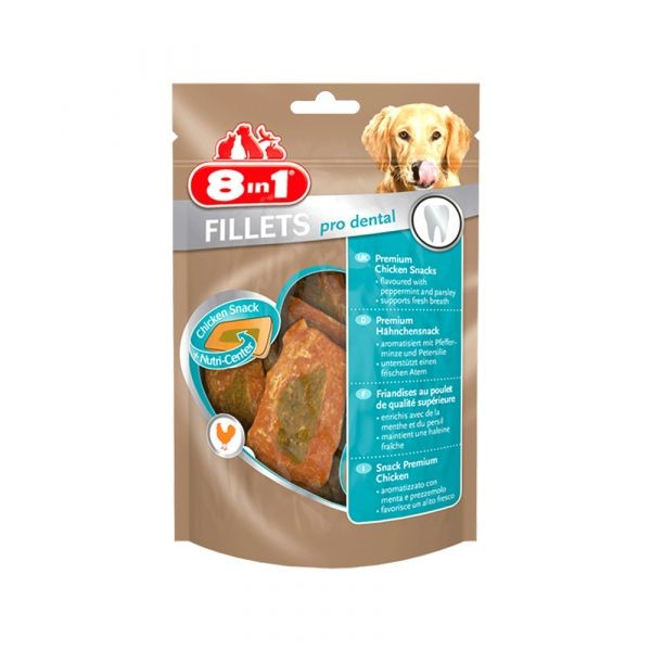 8 in 1 fillets pro dental dog snack