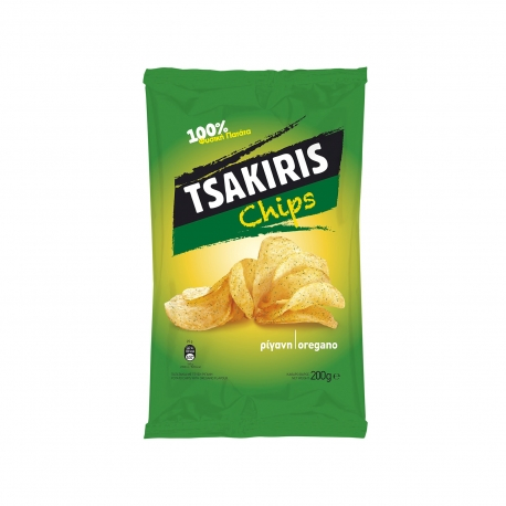 TSAKIRIS CHIPS OREGANO 200G