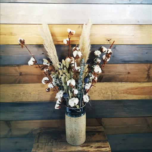 DRY FLOWERS IN A VASE
