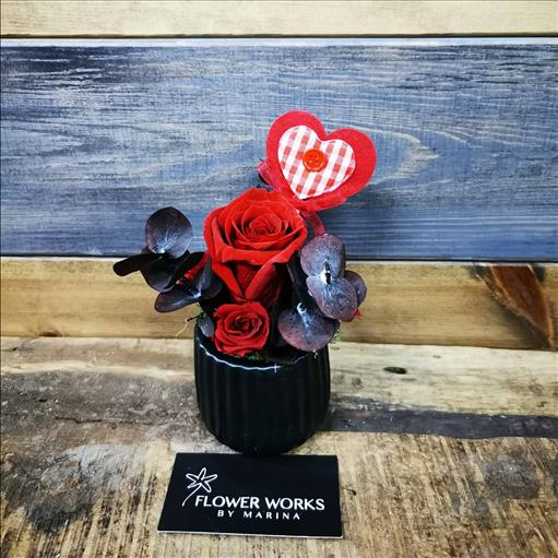 FOREVER ROSES AND A WOODEN HEART