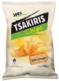 TSAKIRIS CHIPS VINEGAR 45G