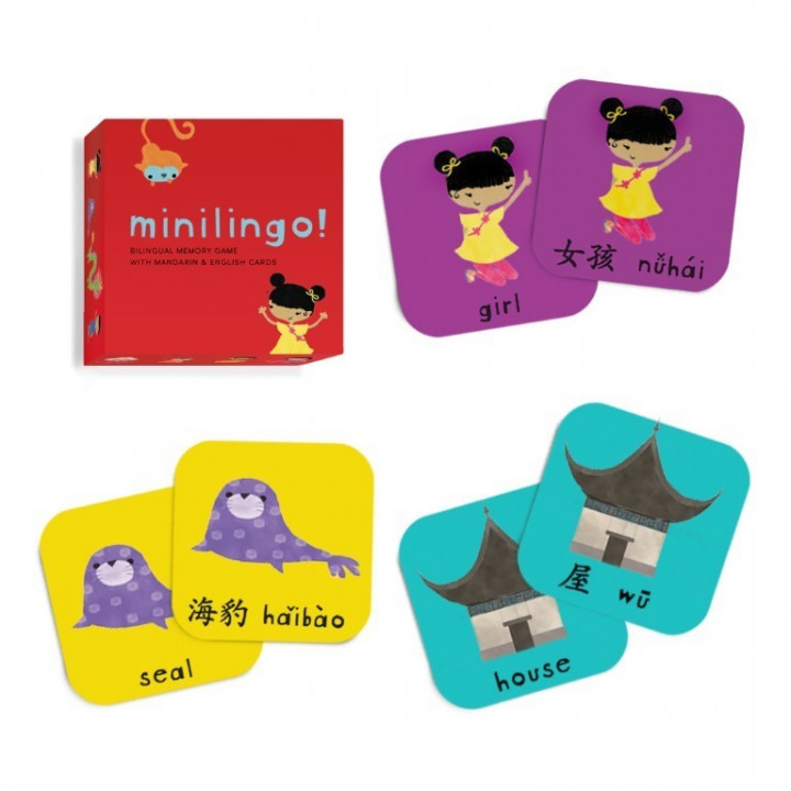 Minilingo Mandarin/English, Bilingual Memory Cards