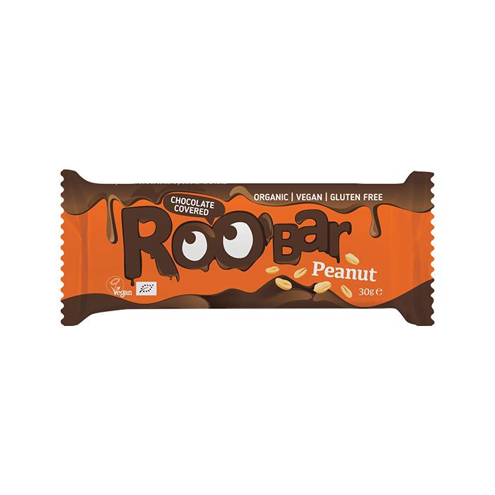 Roobar Chocolate Covered Peanut bar 30gr