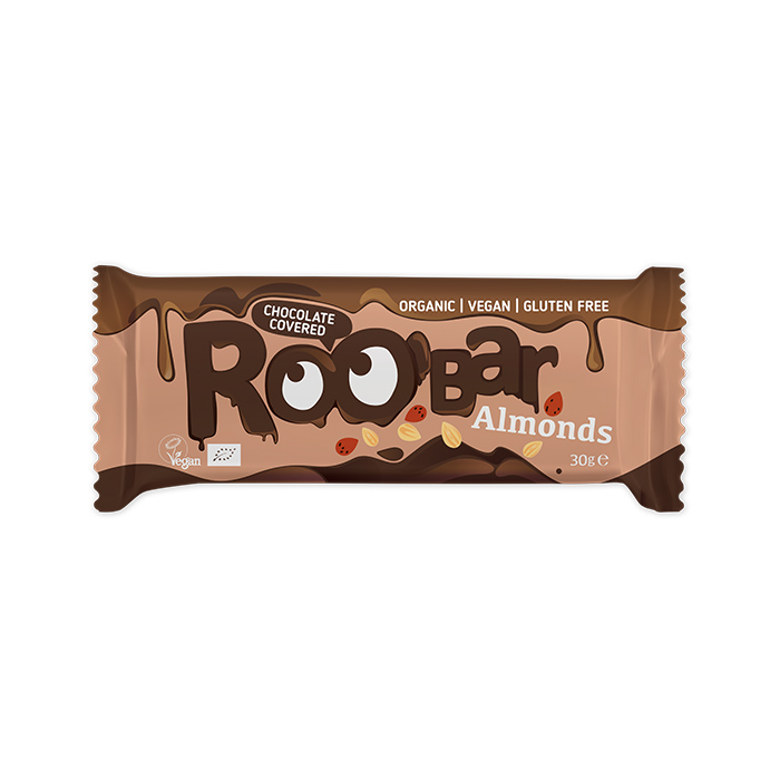 Roobar Chocolate Covered Almond bar 30gr