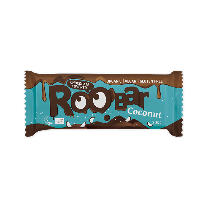 Roobar Chocolate Covered Coconut bar 30gr