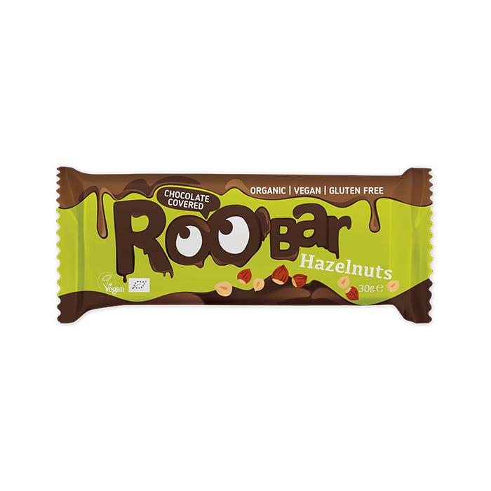 Roobar Chocolate Covered Hazelnut bar 30gr