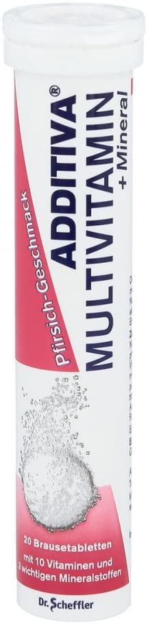 Additiva Multivitamins + Mineral Peach 20 soluble Tablets