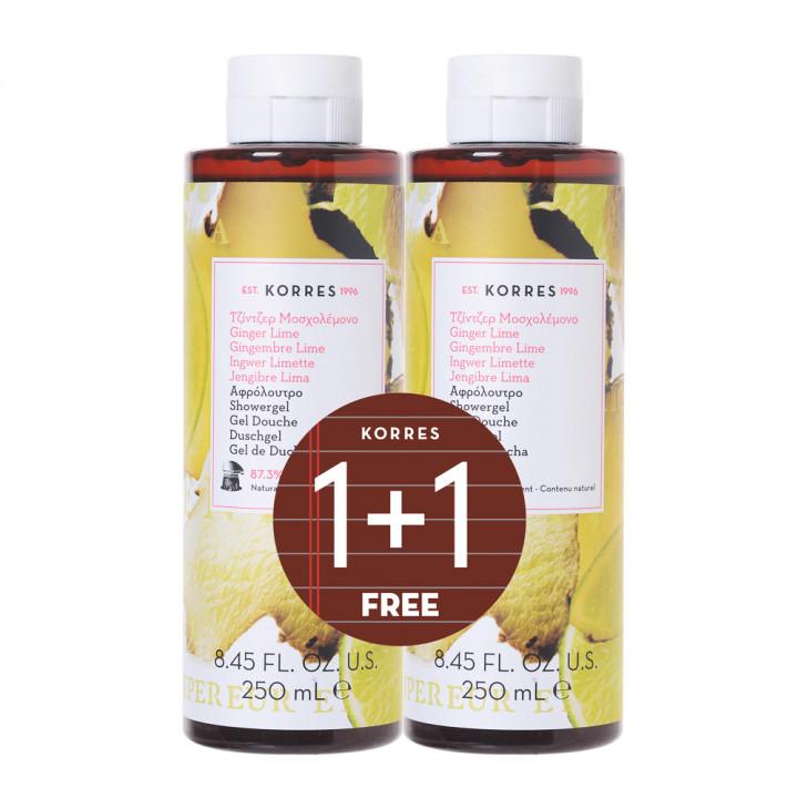 Korres Ginger lime shower gel 2x250ML