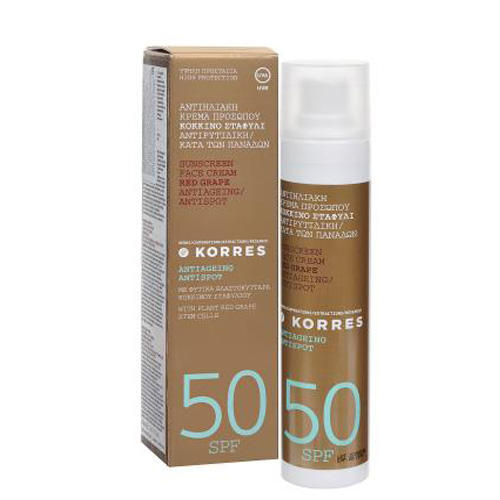 Korres Red Grape face sunscreen  spf 50 tinted