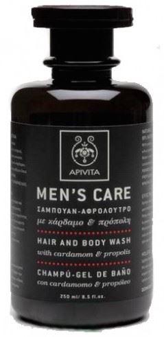 Apivita men's hair & body wash with cardamom & propolis