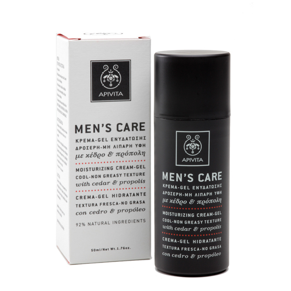 Apivita men's moisturizing cream-gel (oil-free texture)