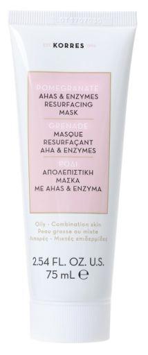 Korres Απολεπιστική μάσκα με AHA& ένζυμα για λιπαρές επιδερμίδες