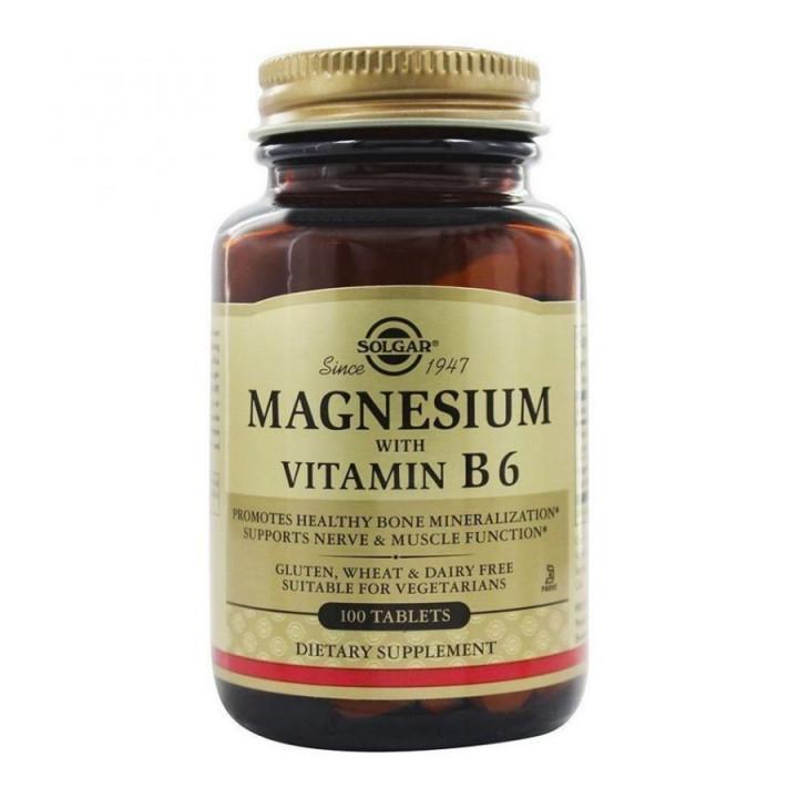 Solgar Magnesium + Vit B6 200mcg Tablets 100