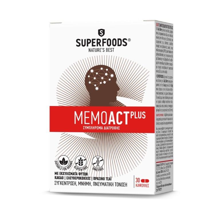 SUPERFOODS MEMOACT PLUS 30 Capsules