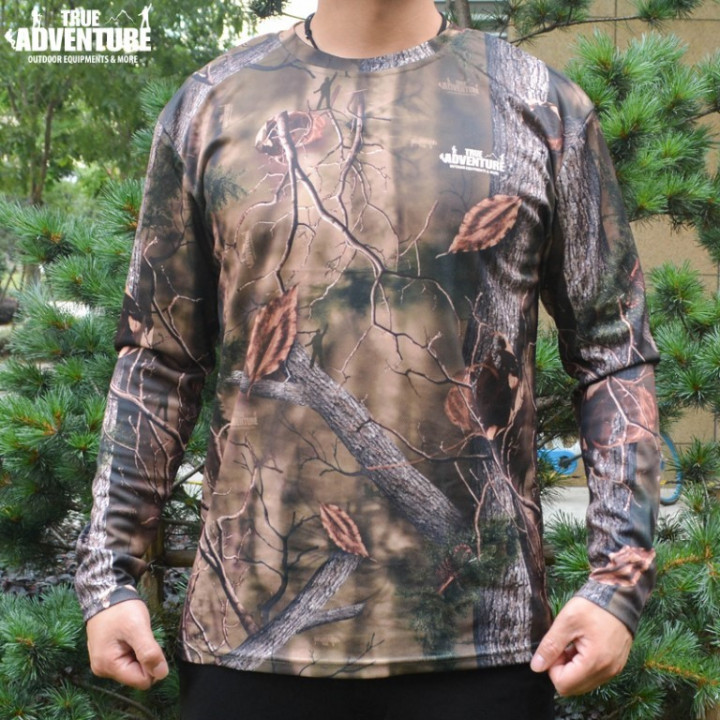 Long Sleeve T-Shirt/ Breathable/Quick Dry - Real Tree - Large