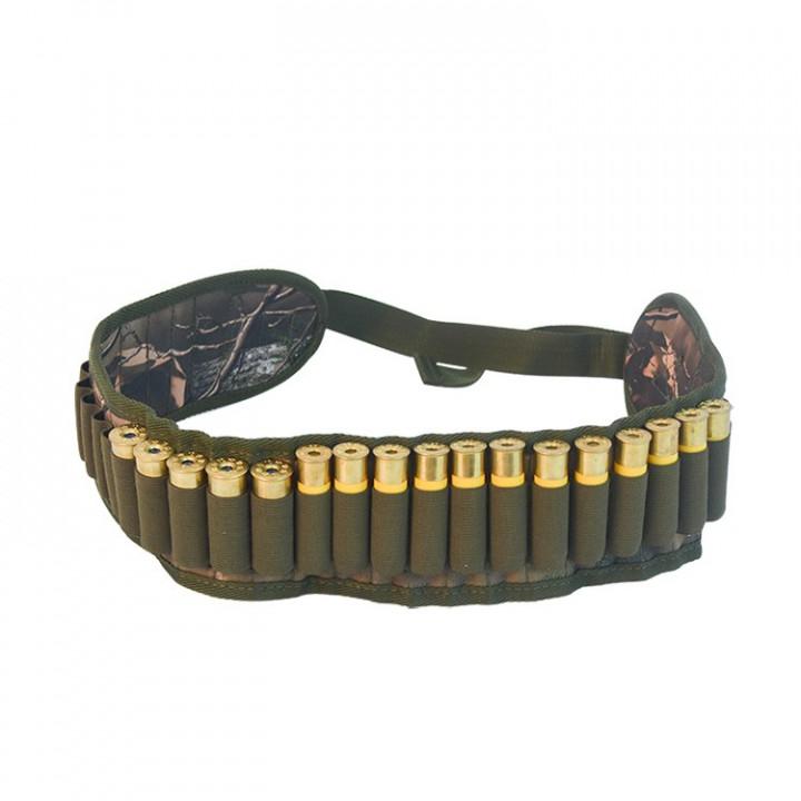 12GA Cartridge Belt 30 Holes(Elastic Shell Holder) - Camo - 93x9.5x2