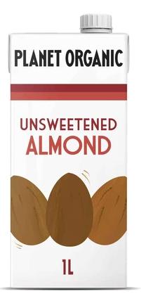 Planet Organic Unsweetened Almond Milk 1L