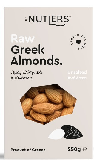 The Nutlers - Unsalted Raw Greek Almonds 200g