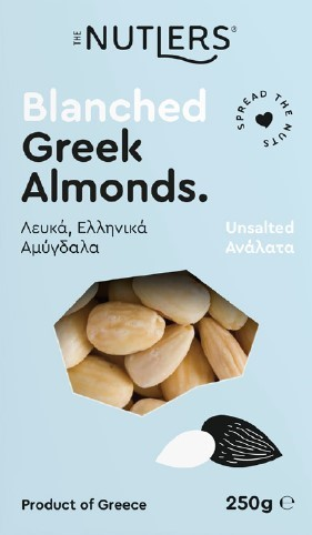 The Nutlers - Unsalted Blanched Roasted Greek Almonds 200g