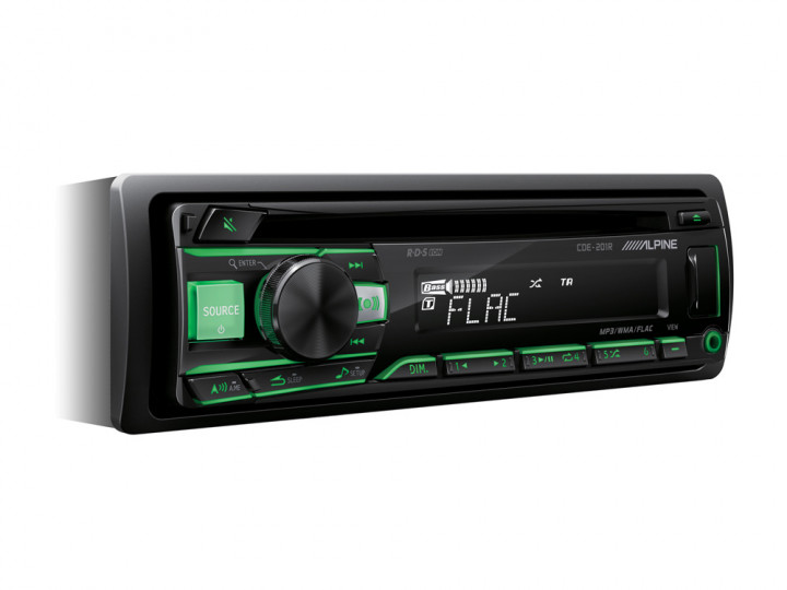 CD PLAYER WITH RADIO 4*50W (GREEN / RED)