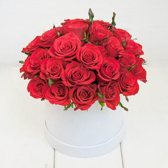 30 Red Roses Flower Box