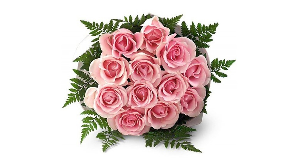 10 Pink Roses Bouquet