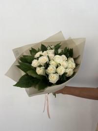 20 White Roses Bouquet