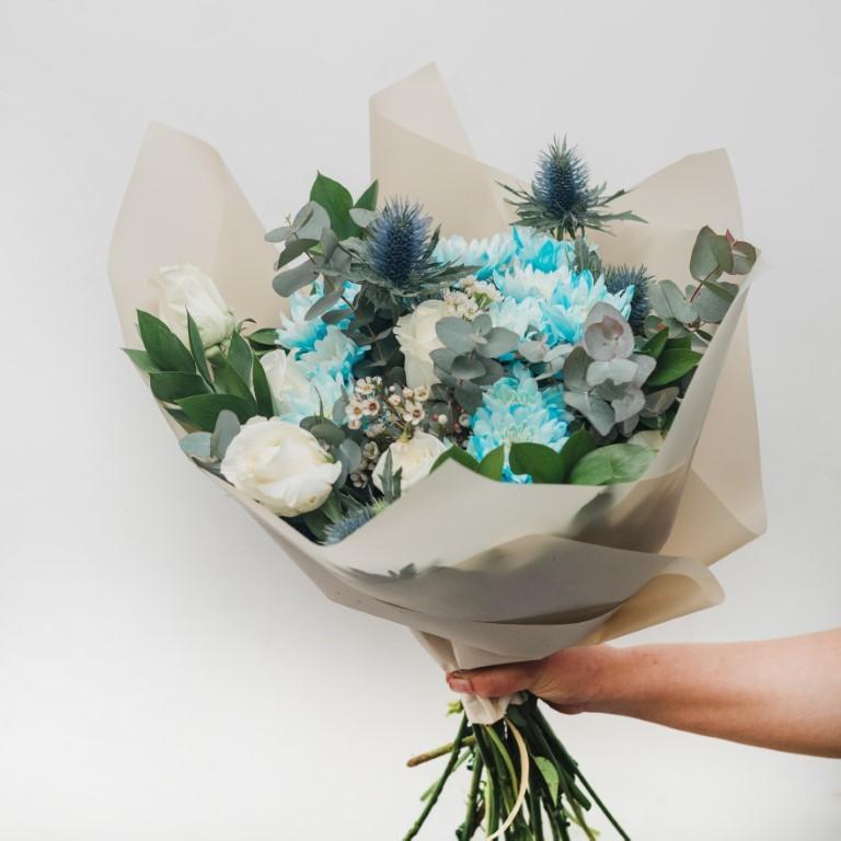 Blue & White Flower Bouquet
