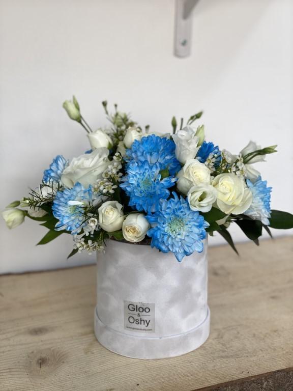 Blue & White Hues Flower Box