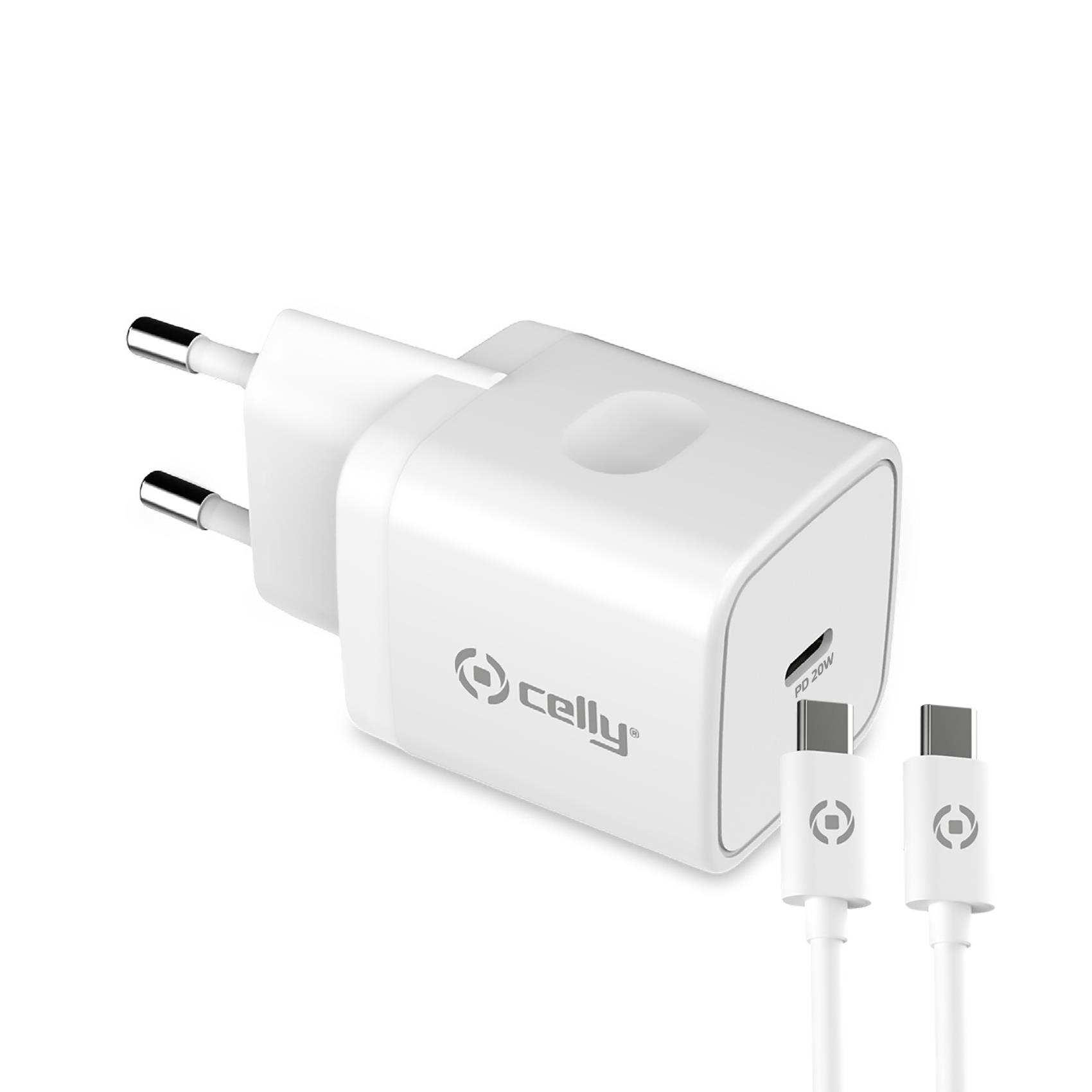 POWER DELIVERY WALL CHARGER 20W + USB-C TO USB-C CABLE [PRO POWER]