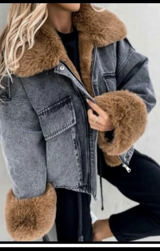 Jeans Fur Coat