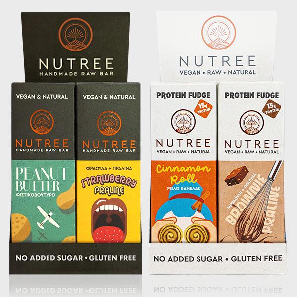 1 NUTREE BOX & 1 NUTREE BOX PROTEIN 24 PIECES X 60G